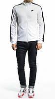 Спортивний костюм Найк, чоловічий костюм Nike, біла кофта, чорні штани, трикотажний