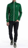 Спортивний костюм Найк, чоловічий костюм Nike, зелений верх, чорні штани, трикотажний