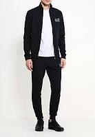 Спортивный костюм Найк, мужской костюм Nike, черный на молнии, трикотажный