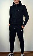 Спортивный костюм Найк, мужской костюм Nike, черный кенгуру, трикотажный