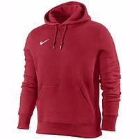 Чоловіча толстовка Найк, спортивна кофта Nike, червона, трикотажна, з капюшеном, кенгуру