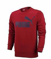 Чоловіча толстовка Пума, спортивна кофта Puma, червона, трикотажна, з капюшеном, кенгуру