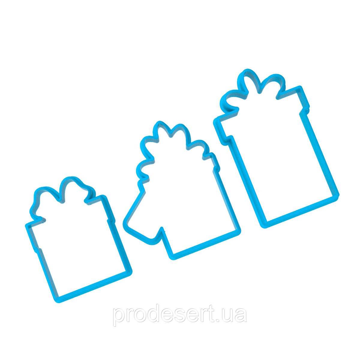 Подарунки набір міні-вирубок для пряників 5-7 см 3 шт (3D)