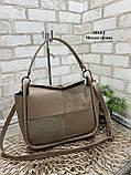 Стильная женская сумка из натуральной замши и экокожи в ассортименте, фото 5