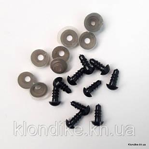 Глазки для игрушек, D - 5 мм Цвет: Черный (10 шт.)