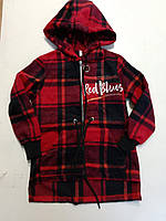 """Рубашка подростковая кашемировая с капюшоном на девочку 122-146см(2цв)""""VANILLA""""недорого от прямого поставщика"""