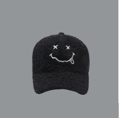 Бейсболка кепка плюшевая под шерсть ягненка мягкая пушистая