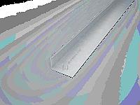 Уголок оцинкованный  (Профиль горизонтальный основной ФПУ 60, фасадный профиль)
