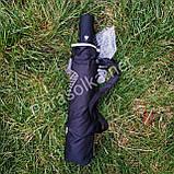 Зонт женский черный с рисунком арт.707-12, фото 3