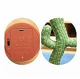 Танцующий плюшевый кактус со шляпой Мягкая музыкальная интерактивная игрушка кактус в горшке в вазоне, фото 10