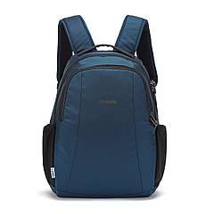 """Рюкзак """"антизлодій"""" Metrosafe LS350, відновлений нейлон ECONYL (синій, 42 x 29,5 x 13 см)"""
