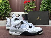 Мужские кроссовки демисезонные Nike Air Jordan 4 Retro, белые