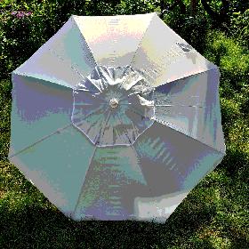 Пляжний зонт світло-сірий 1,9 метра брезентовий