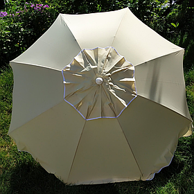 Пляжний зонт бежевий 1,9 метра брезентовий