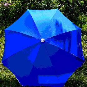 Пляжний зонт синій 1,9 метра брезентовий