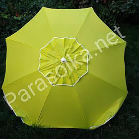 Пляжний зонт жовтий 1,9 метра брезентовий
