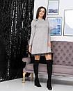 """Стильне модне тепла сукня вільного крою """"Galaxy"""" - 42-44, 46-48, 50-52 в кольорах,ангора Арктика, фото 3"""