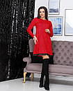 """Стильне модне тепла сукня вільного крою """"Galaxy"""" - 42-44, 46-48, 50-52 в кольорах,ангора Арктика, фото 4"""