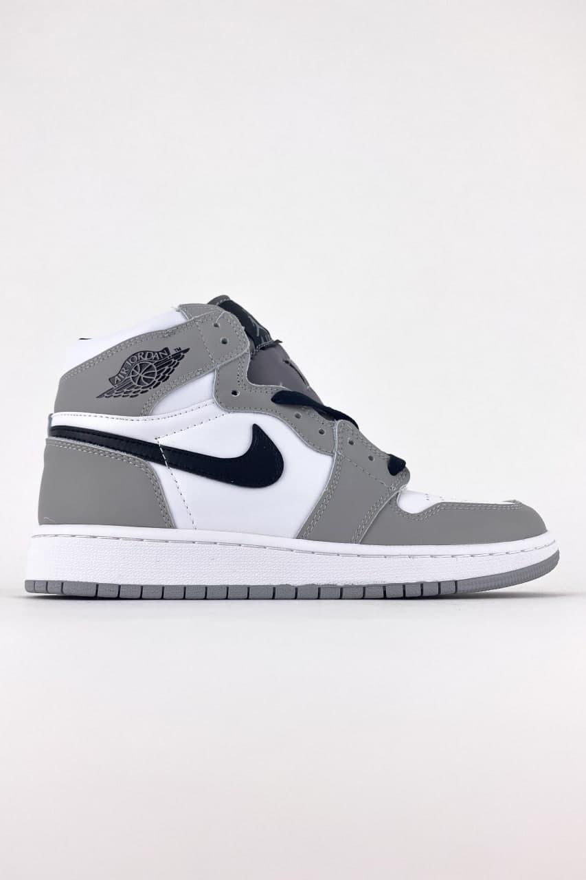 Жіночі кросівки Nike Air Jordan 1 Retro Grey White (сірі) C-3529 повсякденні демісезонні кроси