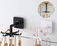 Держатель с крючками для кухонных приборов, без перфорирование стен на липкой основе