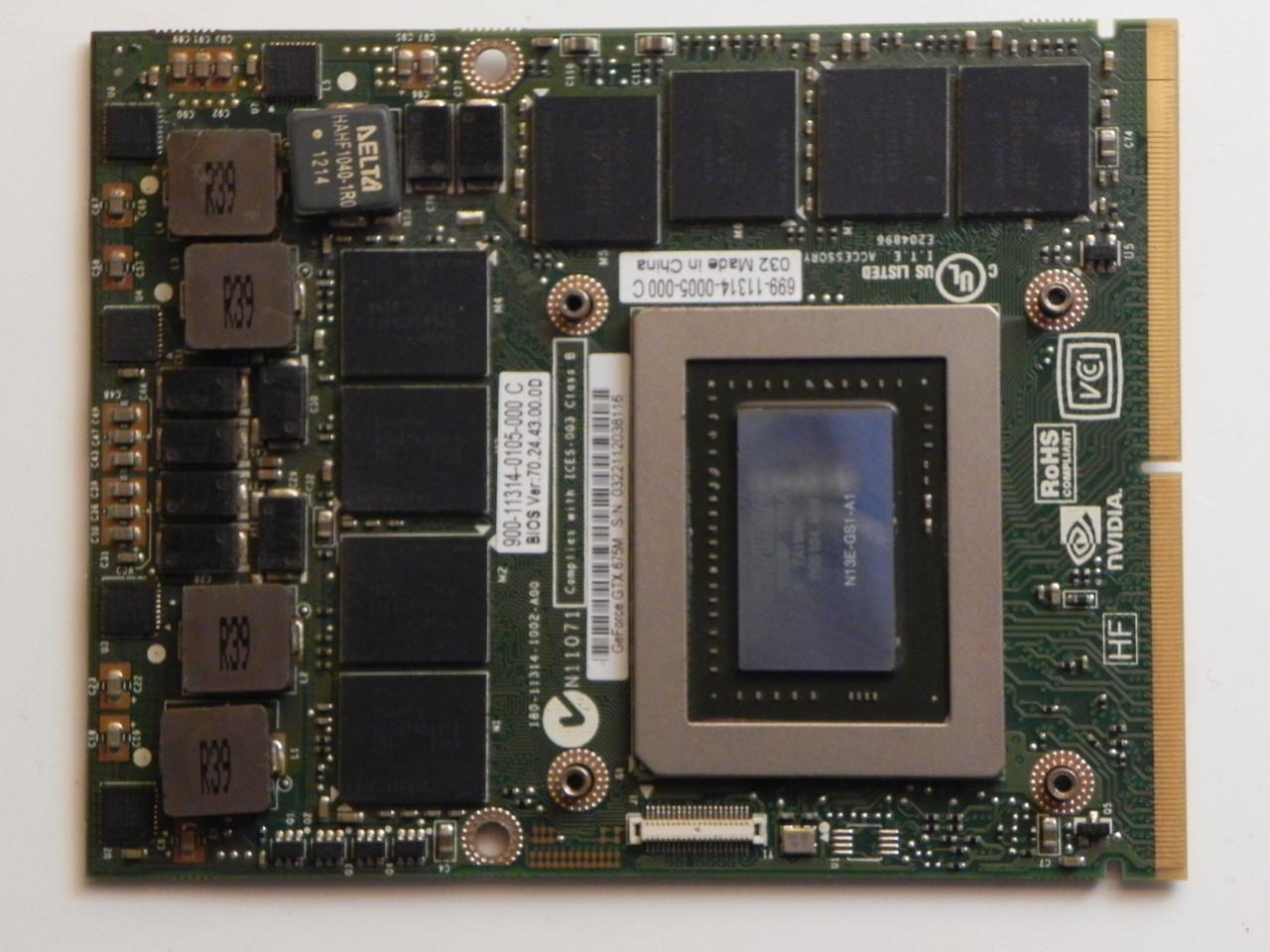 Відеокарта NVIDIA GeForce GTX 675M, N13E-GS1-A1, MSI GT70 GT60 GX660R GT660 GT680 GT683DX GT783DX бу