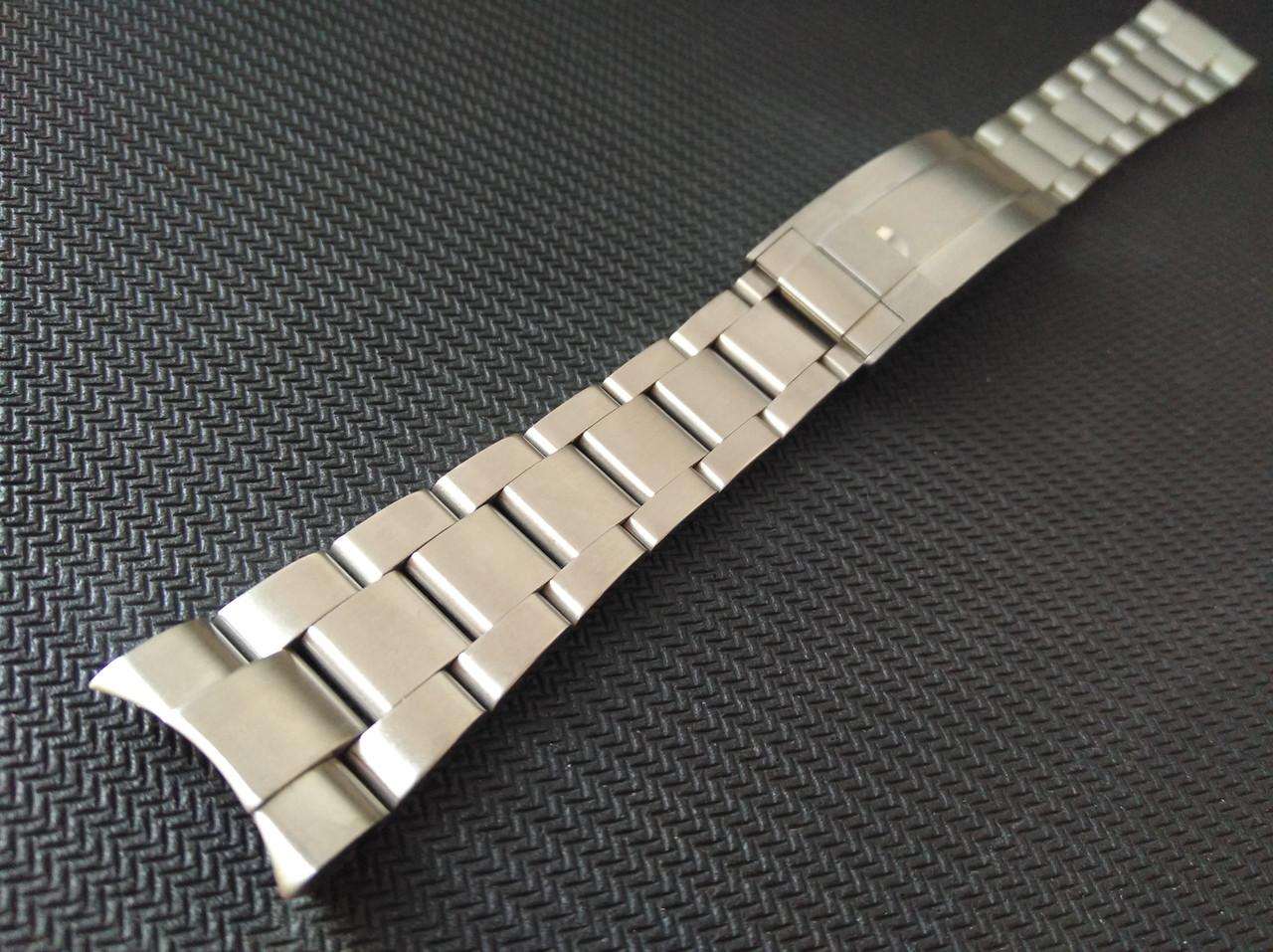 Браслет для часов из нержавеющей стали 316L, литой, мат. Заокругленное окончание. 20 мм