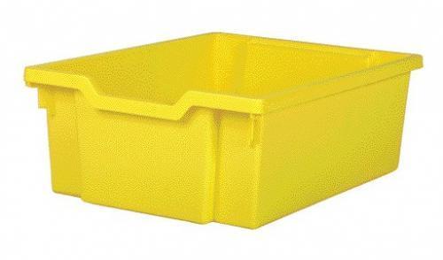 Пластиковый лоток для мебели F2 Grantells Желтый 312х427х150мм c направляющими Контейнер для школьной мебели