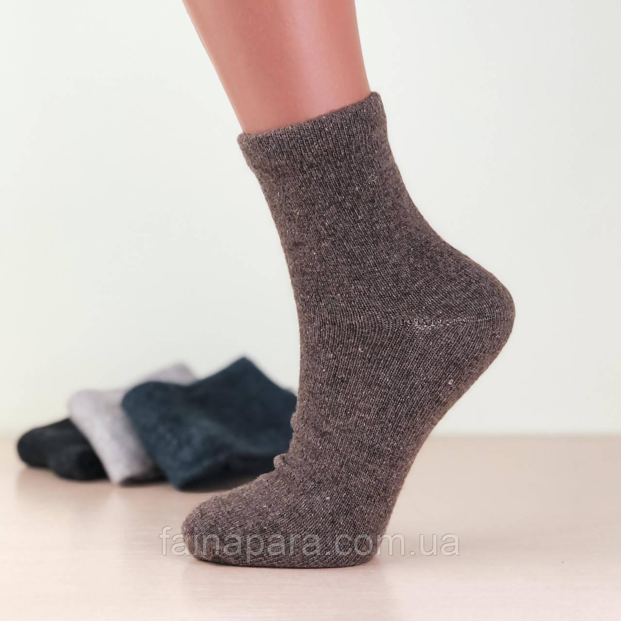 Женские шерстяные однотонные термо носки Style Luxe