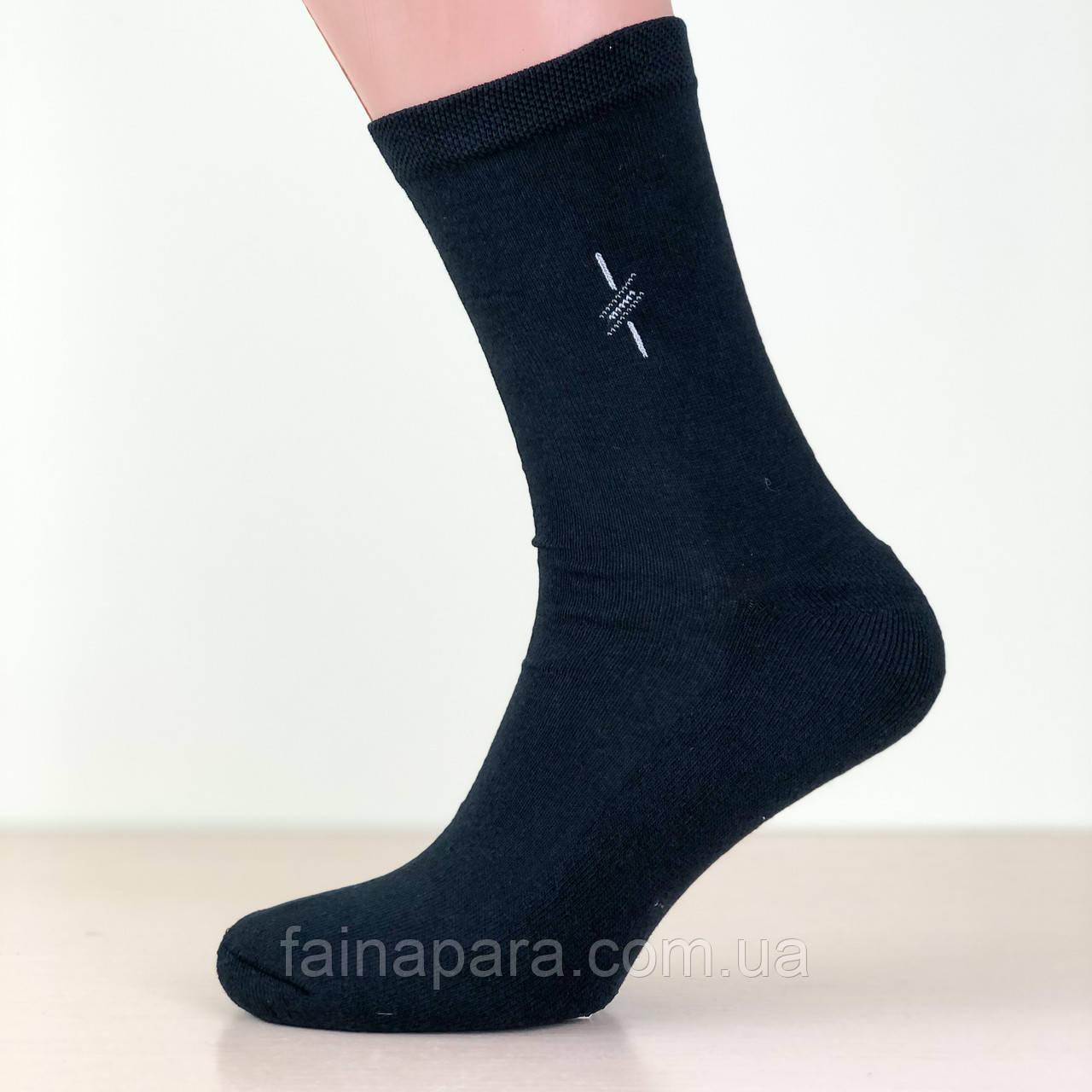 Мужские высокие хлопковые носки с махровой стопой Style Luxe