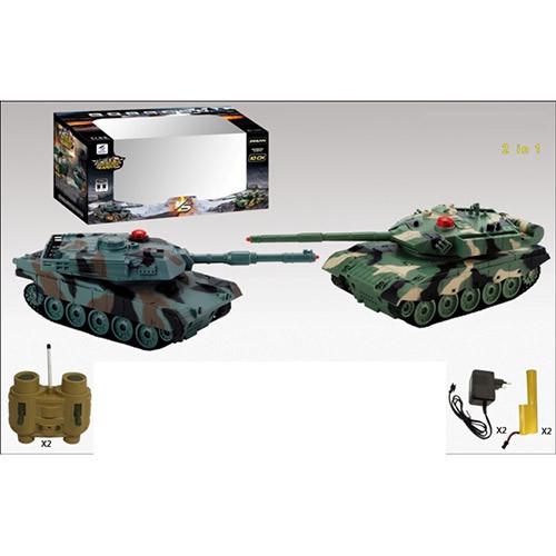 Военная техника 33820 (12шт) р/у,аккум, танк 2шт, 20см, звук, свет, в кор-ке, 34-16-20см