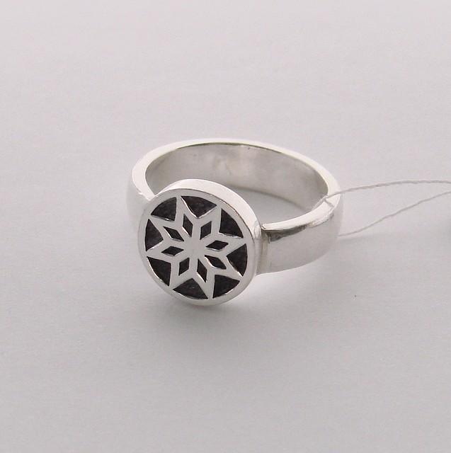 """Серебрянное кольцо """"Алатырь"""""""