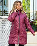 Стильна жіноча батальна куртка і кишені на блискавці (р. 48-62)., фото 2