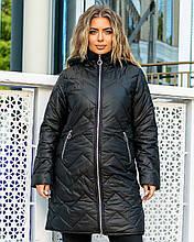 Стильна жіноча батальна куртка і кишені на блискавці (р. 48-62).