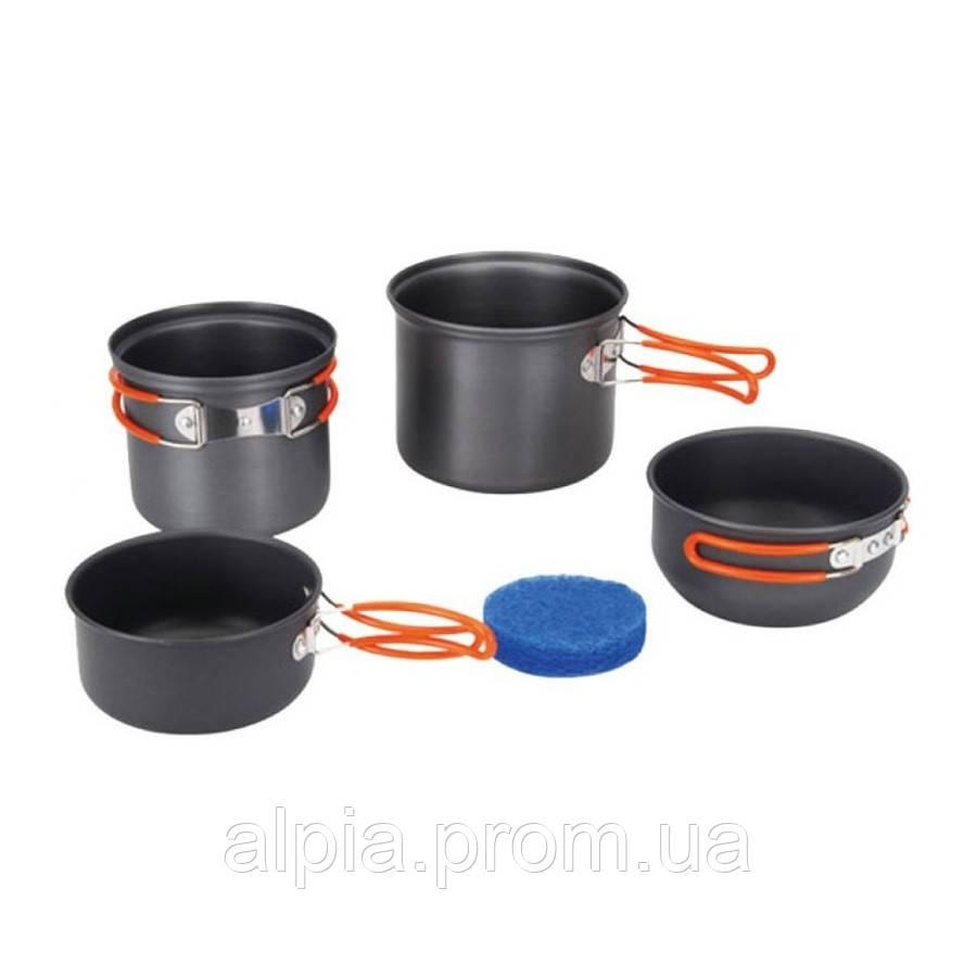 Набор посуды анодированный на 1-2 персоны Tramp TRC-075