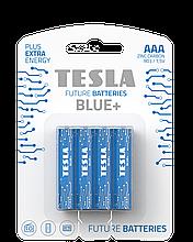 TESLA BATTERIES AAA BLUE+/ 2196 (R03 / BLISTER FOIL 4 шт)