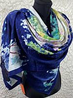 Женские осенние палантины из жатой ткани 180х70 см №2092