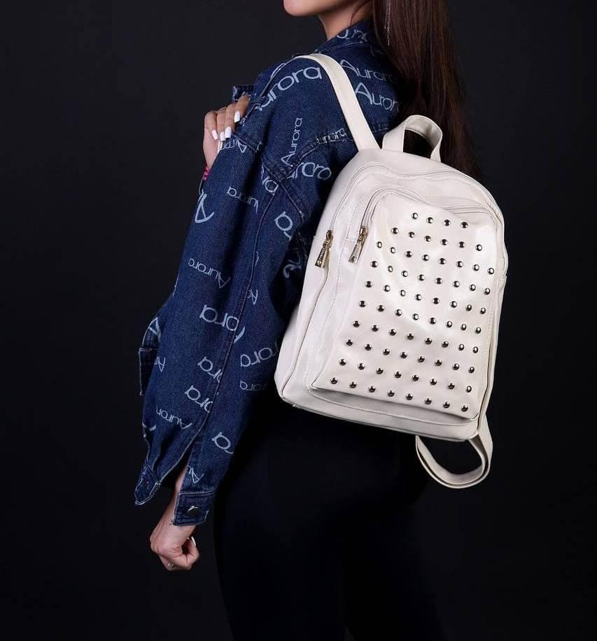 Рюкзак женский молочный код 7-2019