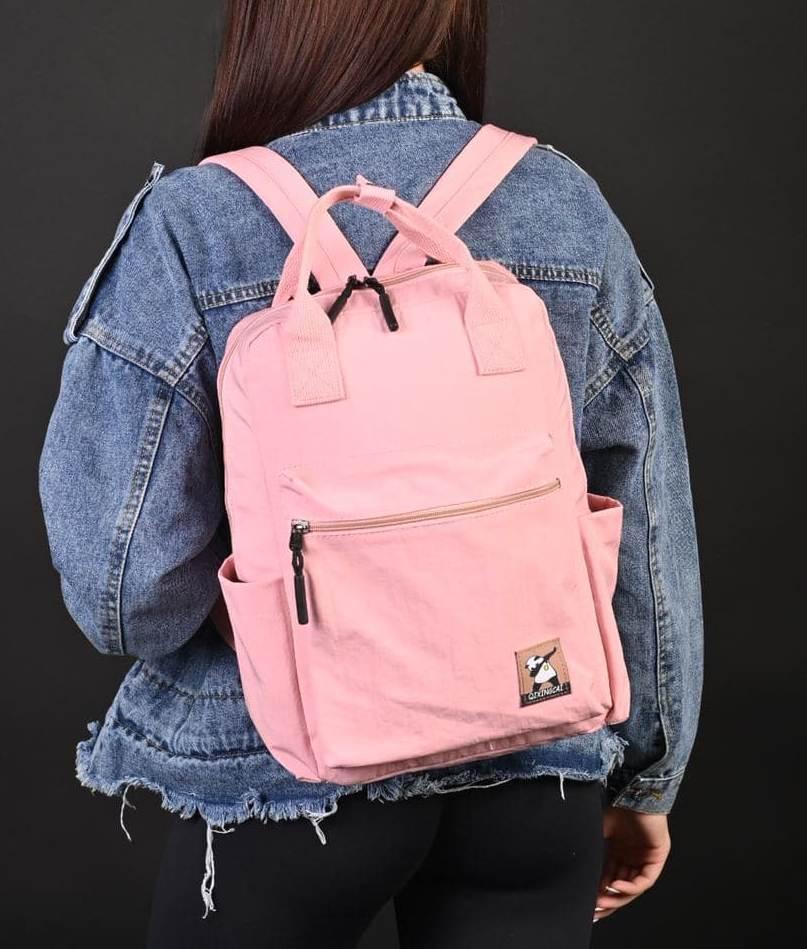 Рюкзак женский розовый код 7-8860