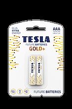 Батарейка TESLA GOLD LR03/ AAA/1120 щелочная (бл/2шт)