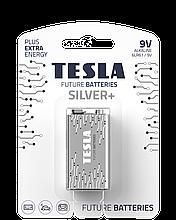 TESLA BATTERIES 9V/1604 SILVER+/ 2301 (6LR61 / BLISTER FOIL 1 шт)