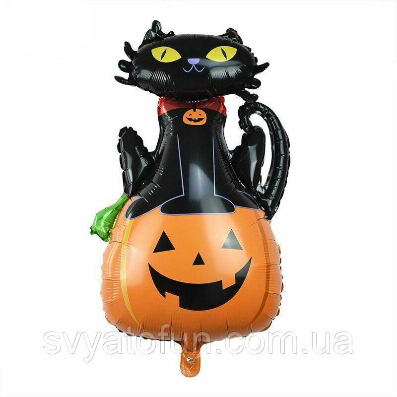 Фольгированный шар фигура Кошка на тыкве Китай