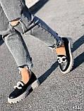 Туфли лоферы Simon черные + капучино 4321, фото 6