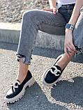 Туфли лоферы Simon черные + капучино 4321, фото 8