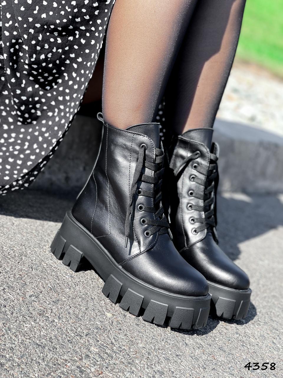Ботинки женские Luke черные 4358 ДЕМИ