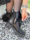 Ботинки женские Luke черные 4358 ДЕМИ, фото 2