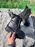 Ботинки женские Luke черные 4358 ДЕМИ, фото 10
