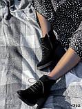 Ботильйони жіночі Line чорні 4362 замша, фото 10