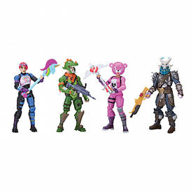 Набор 4 коллекционных фигурок Jazwares Fortnite Squad Mode Фортнайт Рагнарок Рекс Кадл Брайт (FNT0019)