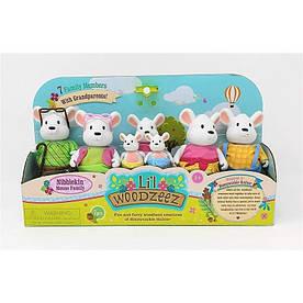 Набор игровых фигурок Li`l Woodzeez Большая Семья Мышей (6491Z)