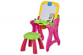 Набор творчества Same Toy Столик Мольберт рожевий (8816Ut)